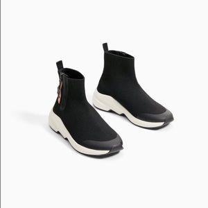 Zara pull tab high top sneakers